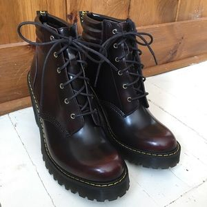 Doc Martens Cherry Red Averil Arcadia Boots